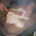 Cooling sticky rice