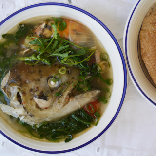 How to make tom hua pa – Lao fish head soup #13