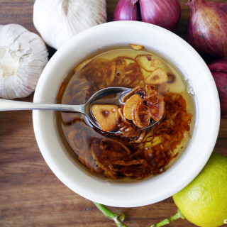 How to make garlic, ginger and shallot oil
