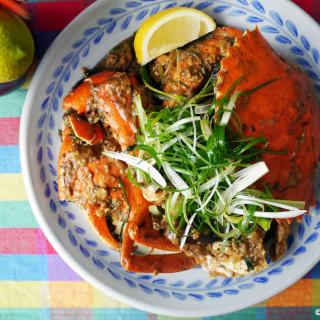 Stir-fried mud crab with eggplant - khua ka pu sai mark keur #21