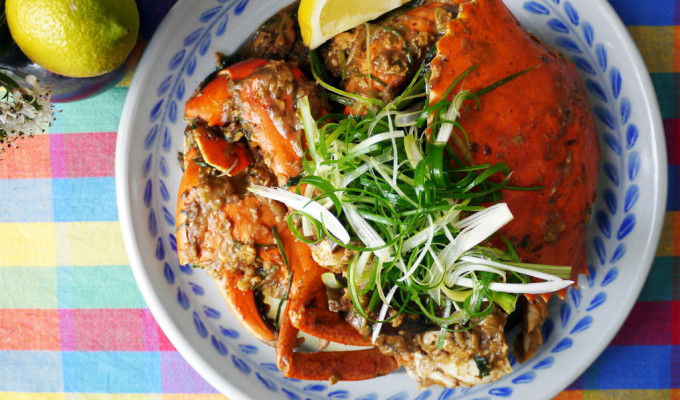 Stir-fried mud crab with eggplant - khua ka pu sai mark keur #21