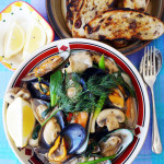 Stir-fried mussels with mushrooms - kua hoi mussel sai het #18