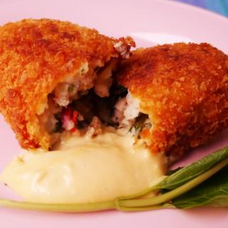 Lao fish larb croquettes – khao nom larb pa croquette