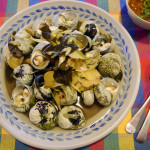 Periwinkles (sea snails) with dipping sauce - hoy jim jeow #16